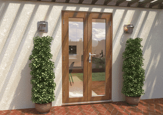 Supreme 58mm Solid Oak French Doors Image