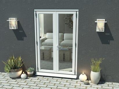 Climadoor White Aluminium French Doors - Part Q Compliant Image
