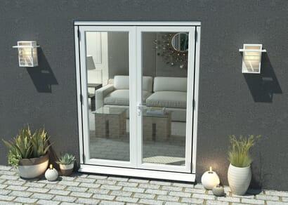 Climadoor White Aluminium French Doors - Part Q Compliant