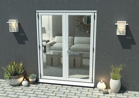 Climadoor White Aluminium French Doors - Part Q Compliant