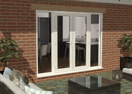 Climadoor UPVC French Doors - White