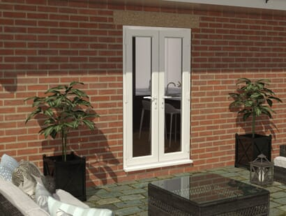 Climadoor Upvc French Doors - White Image