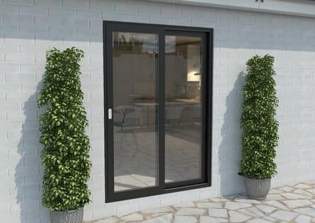 Climadoor Black Aluminium Sliding Doors