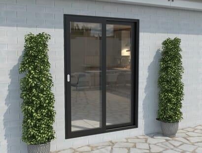 Climadoor Black Aluminium Sliding Doors - Part Q Compliant Image