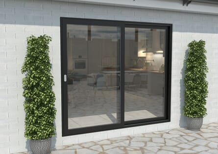 Climadoor Black Aluminium Sliding Doors