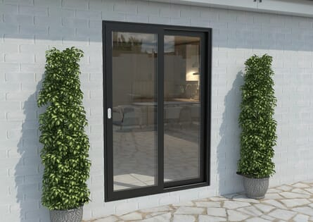 Climadoor Black Aluminium Sliding Doors - Part Q Compliant