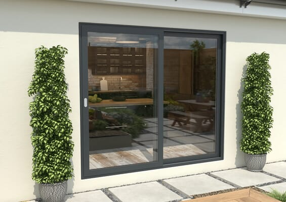 Climadoor Grey Aluminium Sliding Doors