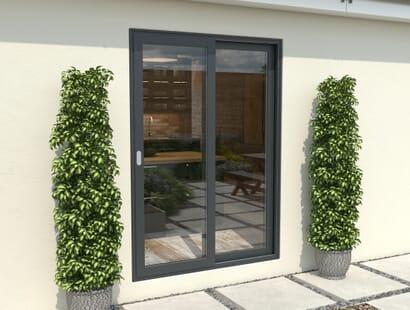 Climadoor Grey Aluminium Sliding Doors - Part Q Compliant Image
