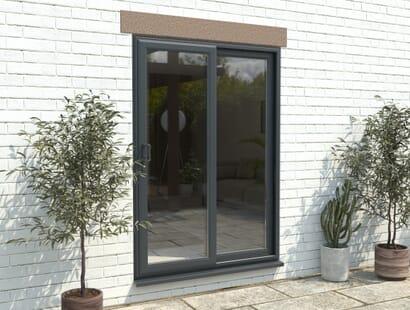 Climadoor Part Q Upvc Sliding Patio Doors - Anthracite Grey Image