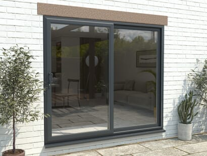 Climadoor Upvc Sliding Patio Doors - Anthracite Grey Image