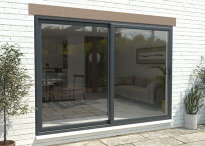 Climadoor Part Q UPVC Sliding Patio Doors - Anthracite Grey