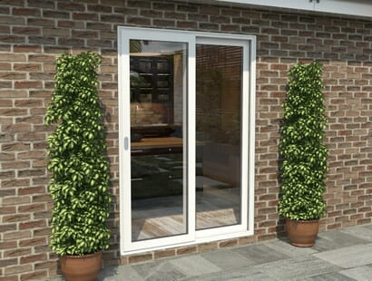 Climadoor White Aluminium Sliding Doors - Part Q Compliant Image
