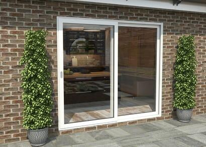 Climadoor White Aluminium Sliding Doors - Part Q Compliant