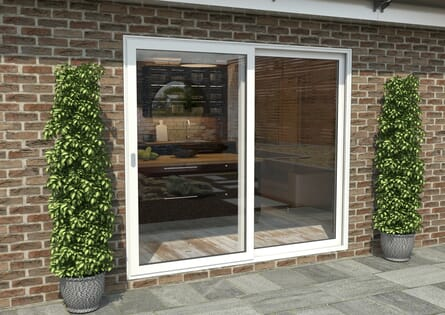 Climadoor White Aluminium Sliding Doors - Part Q Compliant