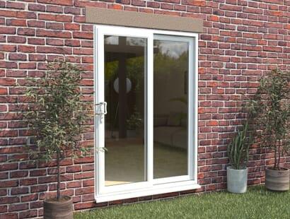 Climadoor Upvc Sliding Patio Doors - White Image