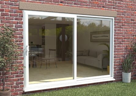 Climadoor Part Q UPVC Sliding Patio Doors - White