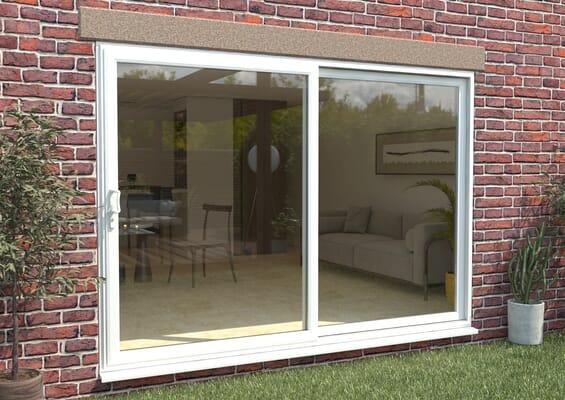 Climadoor Part Q UPVC Sliding Patio Doors - White