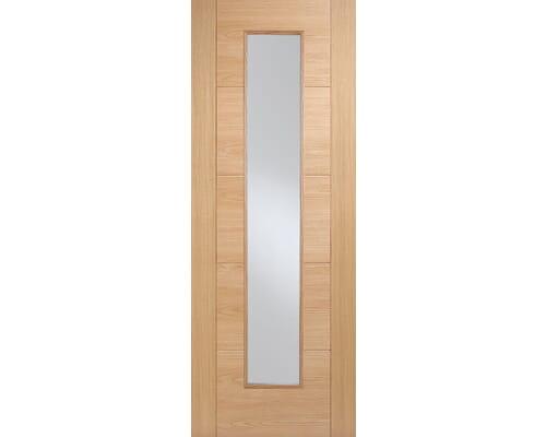 Vancouver Pattern 10 Oak - Clear Prefinished Fire Door