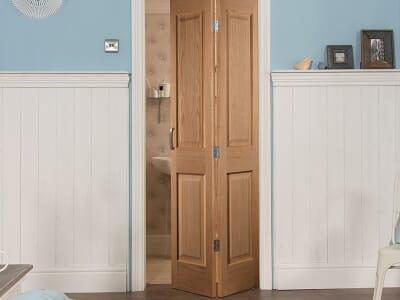 Oak Slimline Bifold Doors