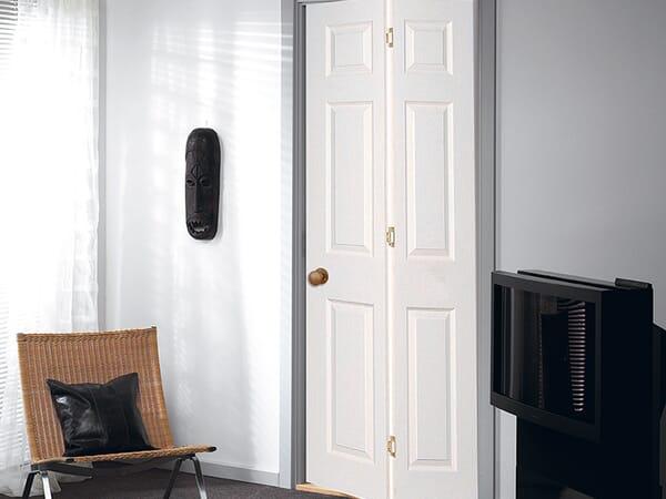 White Slimline Bifold Doors