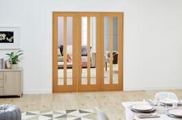 Aston Oak FrenchFold Room Divider Doors Image