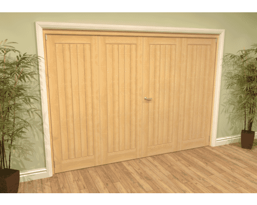 Mexicano Oak French Folding Room Divider