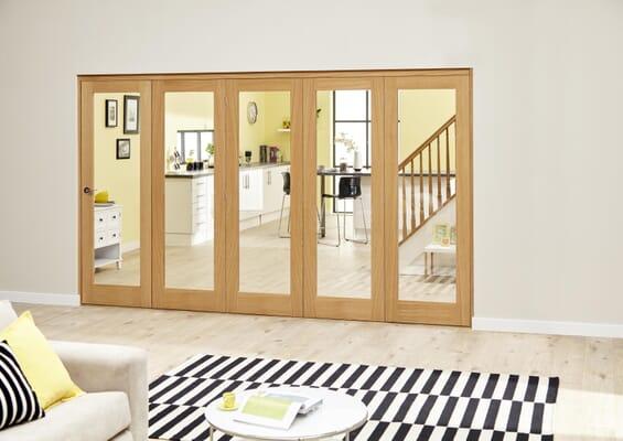 Prefinished P10 Oak Roomfold Deluxe (5 x 762mm doors)