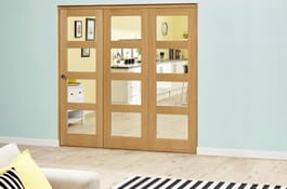 Oak 4L Prefinished RoomFold Deluxe Doors Image