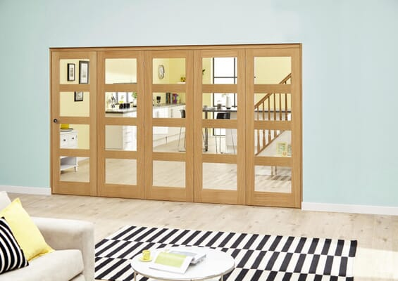 Oak Prefinished 4L Roomfold Deluxe (5 x 610mm doors)