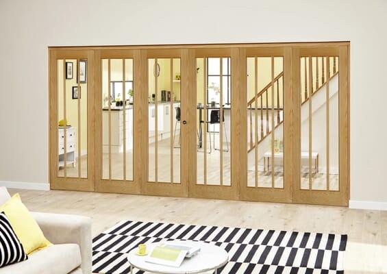 Worcester Oak Prefinished Roomfold Deluxe (5 + 1 x 610mm doors)