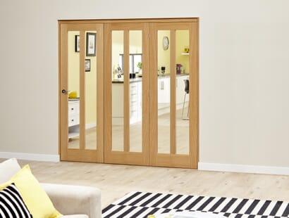 Oak Aston Roomfold Deluxe - Clear Image