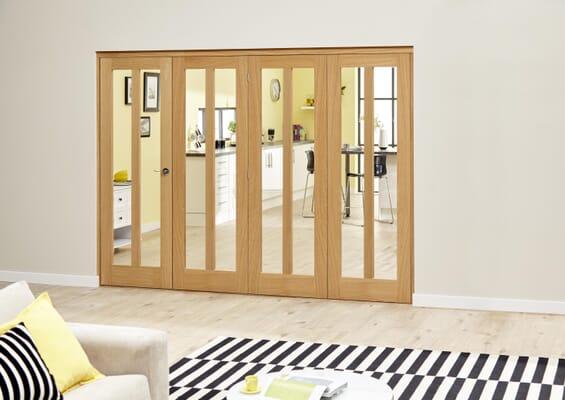 Aston Oak - 4 door Roomfold Deluxe (4 x 610mm doors)