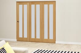 Aston Oak RoomFold Deluxe Frosted Doors Image