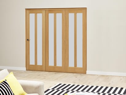 Oak Aston Roomfold Deluxe - Frosted Image