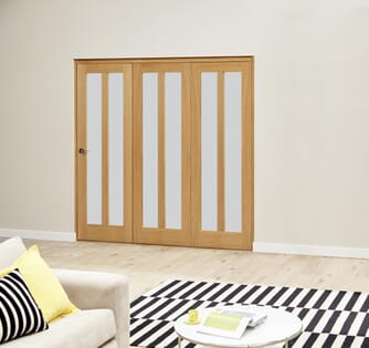 Oak Aston Roomfold Deluxe - Frosted