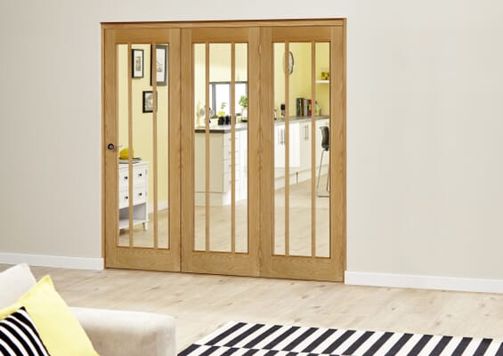 Lincoln Oak Roomfold Deluxe - Clear Glass