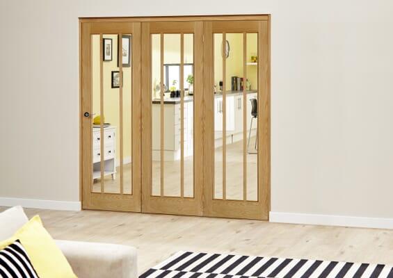 Lincoln Oak Roomfold Deluxe (3 x 686mm doors)