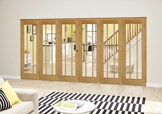 Lincoln Oak Roomfold Deluxe (3 + 3 x 610mm doors)