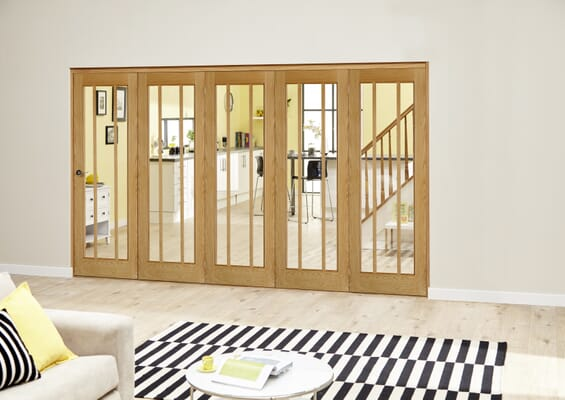 Lincoln Oak Roomfold Deluxe (5 x 686mm doors)