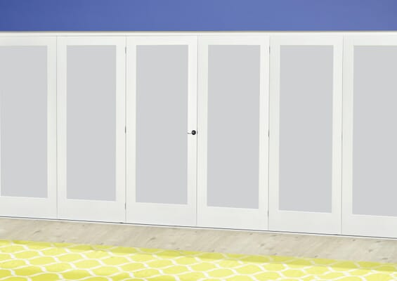 White P10 Frosted Roomfold Deluxe (3 + 3 x 610mm doors)