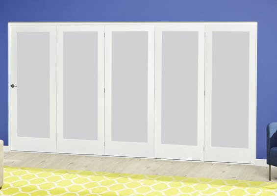 White P10 Frosted Roomfold Deluxe (5 x 610mm doors)