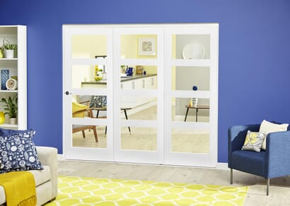White 4L Roomfold Deluxe - Clear Glass