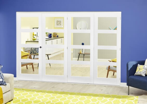White 4L Roomfold Deluxe (4 x 686mm doors)