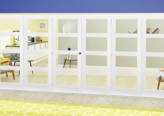 White 4L Roomfold Deluxe (3 + 3 x 610mm doors)