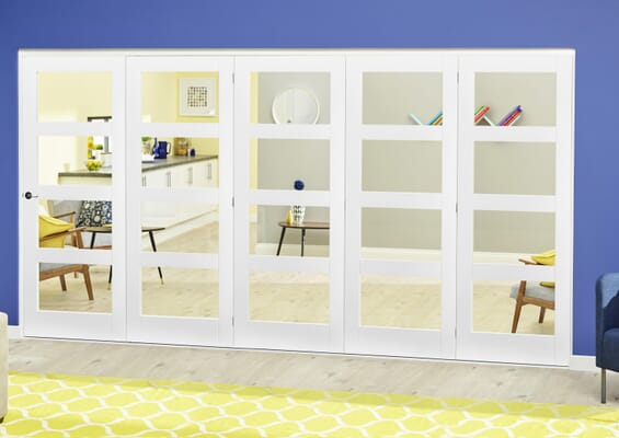White 4L Roomfold Deluxe (5 x 686mm doors)