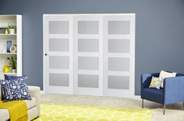 Contemporary White 4L RoomFold Deluxe Doors Image