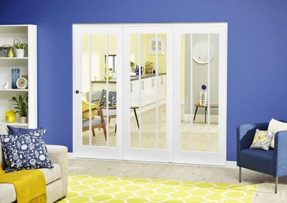 Lincoln White Roomfold Deluxe (3 x 686mm doors)