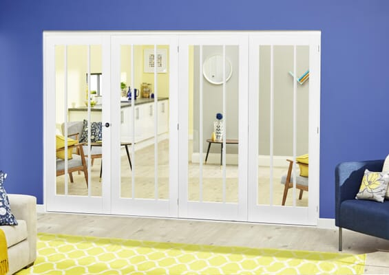 Lincoln White Roomfold Deluxe (4 x 610mm doors)