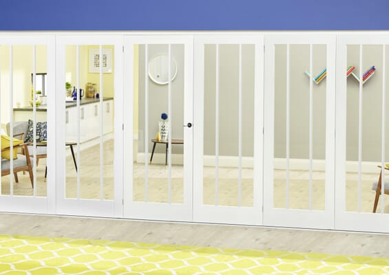 Lincoln White Roomfold Deluxe (5 + 1 x 610mm doors)