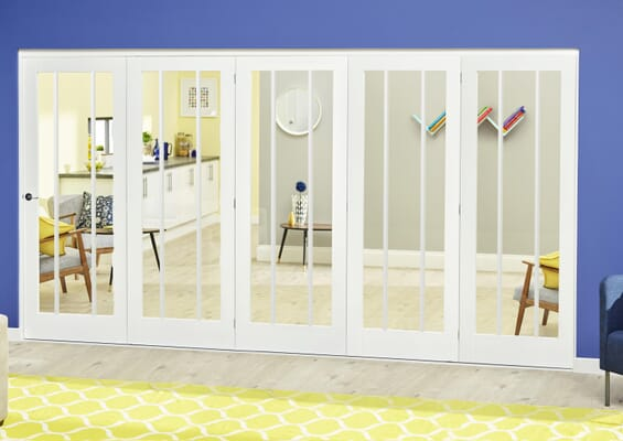 Lincoln White Roomfold Deluxe (5 x 610mm doors)